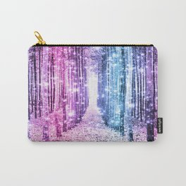 Magical Forest : Pastel Pink Lavender Aqua Periwinkle Ombre Carry-All Pouch