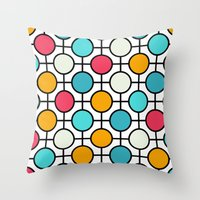 polka dots Throw Pillows featuring Polka Dots by Dizzy Moments