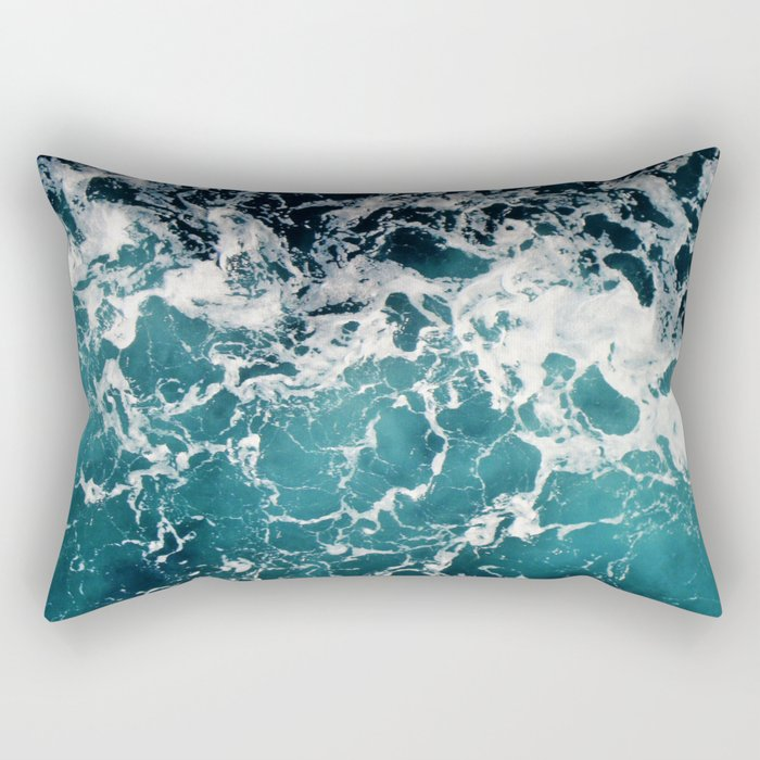 Churning Water Rectangular Pillow