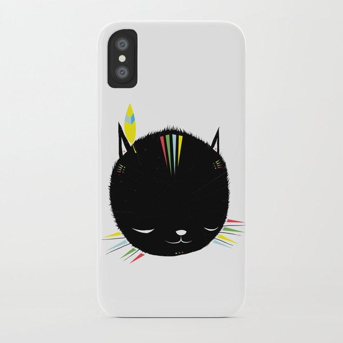 MIGHTY TIGARRR, BLACK KITTEN 묘 iPhone Case