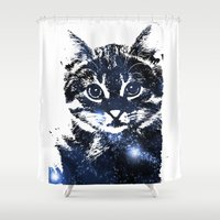kitty Shower Curtains featuring kitty by Cat Milchard