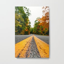 on the road in vermont Metal Print