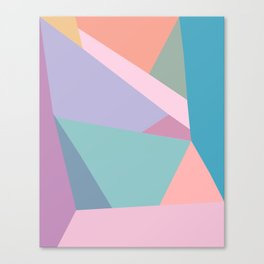 Fractured Triangles in Playful Color Canvas Print