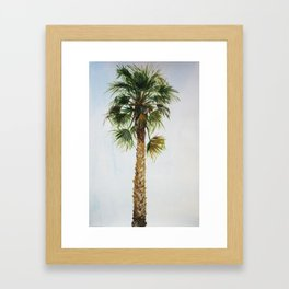 Palm tree, coastal watercolor Framed Art Print