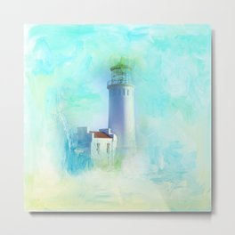 Tranquil Shores - Lighthouse Metal Print