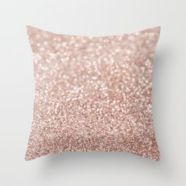 Sparkling Rose Gold Blush Glitter #2 #shiny #decor #art #society6 Throw Pillow