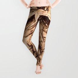 Warm Toned Sepia Sketcing Leggings