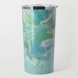 Breathe Blue Abstract Print Travel Mug