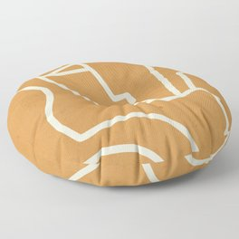 Abstract Minimal Woman Portrait 2 Floor Pillow