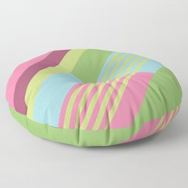 Colorful Sunny Stripes Floor Pillow