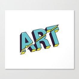 Art cut out design Canvas Print