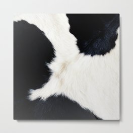 Farmhouse Cowhide Metal Print