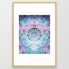 Mandala Dream | Watercolor Galaxy Painting Framed Art Print