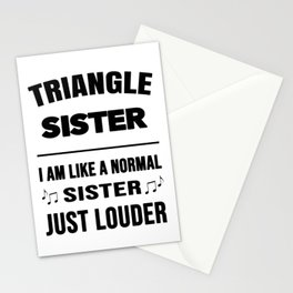 Triangle Sister Like A Normal Sister Just Louder Stationery Cards