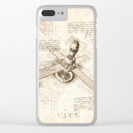 Space shuttle sketch Clear iPhone Case