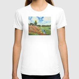 Claude Monet - Poppy Field at Argenteuil T-shirt