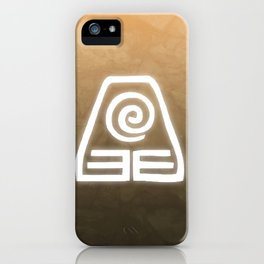 Avatar Earth Bending Element Symbol iPhone Case