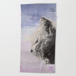 GeometriCat Beach Towel