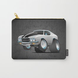 Classic Seventies American Muscle Car Cartoon Carry-All Pouch