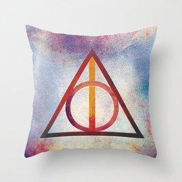 Deathly Hallows - Light Throw Pillow