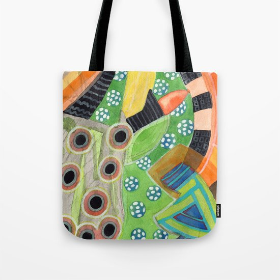 Curves and Patterns with Red Light Bulb Tote Bag
