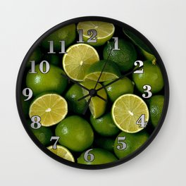 Limet Lemon Fruits Wall Clock