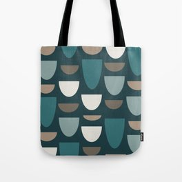 Turquoise Bowls Tote Bag