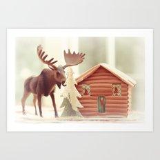 Big Moose Art Print