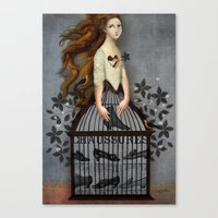 cinderella Canvas Prints featuring Cinderella by Catrin Welz-Stein