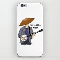 david fleck iPhone & iPod Skins featuring PortoBella Fleck  by Pattavina