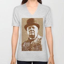 Scrabble Winston Churchill Unisex V-Neck