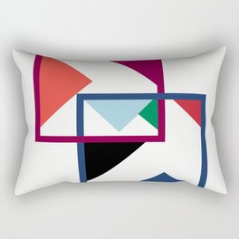 Luxe coloured shapes in an abstract pattern Rectangular Pillow