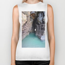 The cave with water Biker Tank