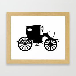 Old Carriage Silhouette Framed Art Print