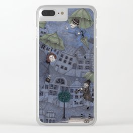 Monsieur Millet's Umbrellas Clear iPhone Case