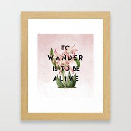 To Wander Framed Art Print