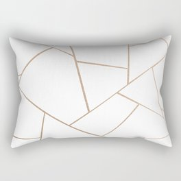 Rose Gold White Geometric Glam #1 #geo #decor #art #society6 Rectangular Pillow