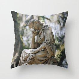 Bonaventure Cemetery - Statue of Eliza Wilhelmina Theus Throw Pillow