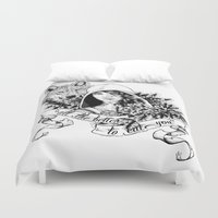 bane Duvet Covers featuring The Wolf's Bane by Spicy Monocle