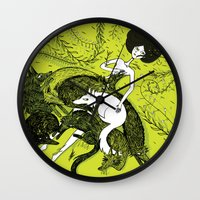 dress Wall Clocks featuring Dress by Oeilbleu