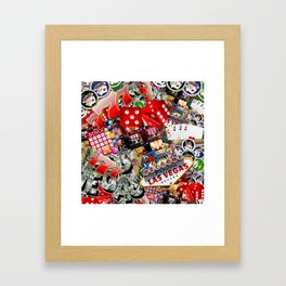 Gamblers Delight - Las Vegas Icons Framed Art Print
