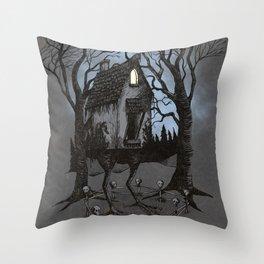 House of Baba Yaga Throw Pillow