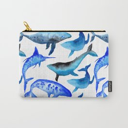 Watercolor whales Carry-All Pouch