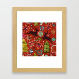 joyous jumble rust Framed Art Print