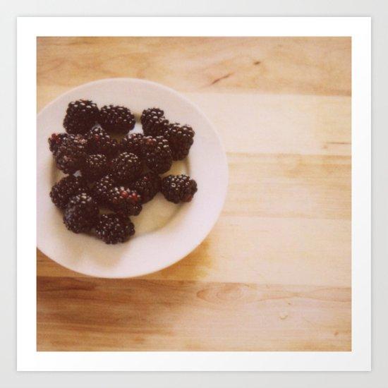 Summer Blackberries Art Print
