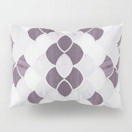 Moroccan Scalloped Flower Plum Pillow Sham