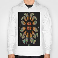 stained glass Hoodies featuring stained glass by Joshua Arlington
