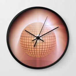 Sparkling disco ball Wall Clock