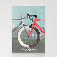 tour de france Stationery Cards featuring Tour De France Bicycle by Wyatt Design