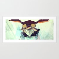 borderlands Art Prints featuring Borderlands - Gaige by BEN Olive
